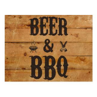Öl och BBQ Vykort