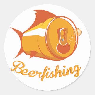 Öl och fiske runt klistermärke