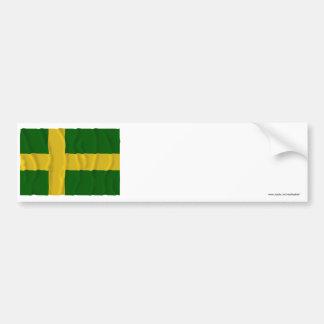 Öland som vinkar (den inofficiella) flagga, bildekal