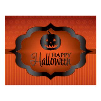 O'lantern Halloween orange jack Vykort