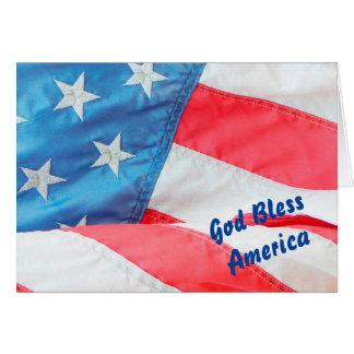 Old gloryvälsigna dig Amerika Hälsningskort