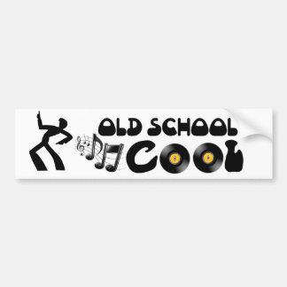 Old schoolcoola - vinylrekord och bra musik bildekal