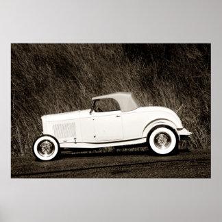 Old schoolDuece Roadster Affischer