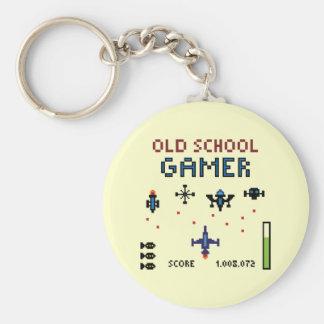 Old schoolGamer - Spaceship - Keychain Rund Nyckelring