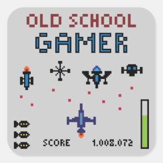 Old schoolGamer - Spaceship - klistermärke