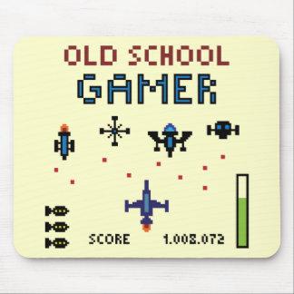 Old schoolGamer - Spaceship - Mousepad Mus Mattor