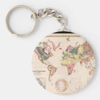 Olden världskarta 30 rund nyckelring