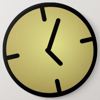 Oldskool tar tid på emblem jumbo knapp rund 15.2 cm