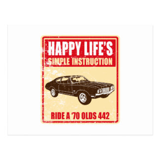 Oldsmobile 1970 442 vykort