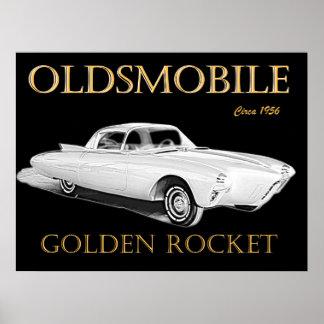 Oldsmobile guld- raket affisch