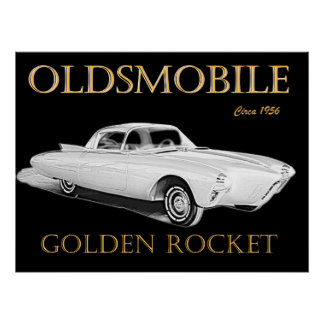 Oldsmobile guld- raket poster
