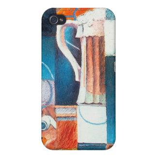 Ölexponeringsglas och kort, vid Juan Gris iPhone 4 Cover