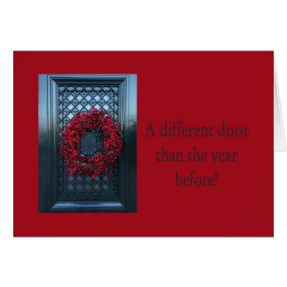 Olik dörr - nytt adress kort för julkran
