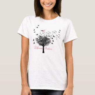 Olika fjädrar t-shirt