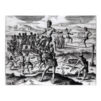 Olika indiska lekar, från 'Americae Vykort