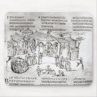 Olika platser som illustrerar en psalm musmatta