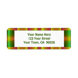 oliv grönt brunt mönster returadress etikett