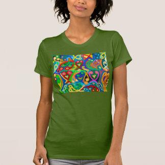 Oliv grönt: Kvinna Racerback T Shirts