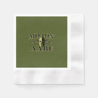Oliv grönt Molon Labe spartanska 5 stjärnor Servett
