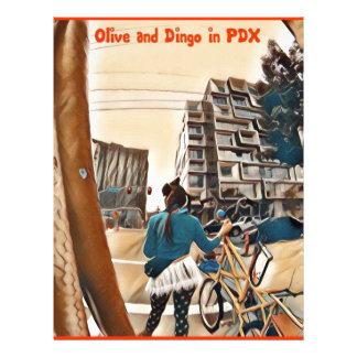 Oliv och Dingo i PDX Brevhuvud