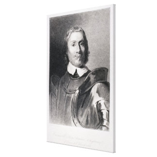 Oliver Cromwell Lord Beskyddande av England Canvastryck