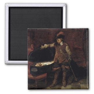 Oliver Cromwell som öppnar kistan av Charles Magnet