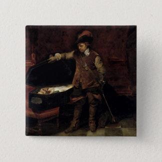 Oliver Cromwell som öppnar kistan av Charles Standard Kanpp Fyrkantig 5.1 Cm