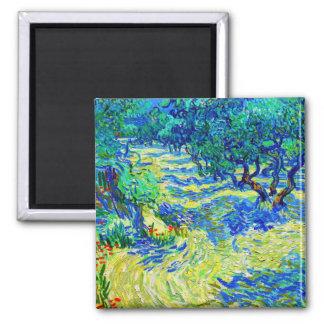 Olivgrön dunge av Vincent Van Gogh Magnet