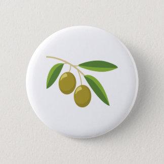 Olivgrön gren standard knapp rund 5.7 cm