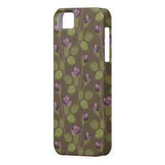 Olivgrön nätt lila blommorFodral-Kompis iPhone 5 iPhone 5 Case-Mate Fodraler