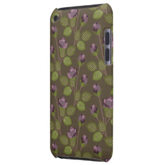 Olivgrönt nätt lila blommorfodraliPod handlag iPod Case-Mate Fodraler
