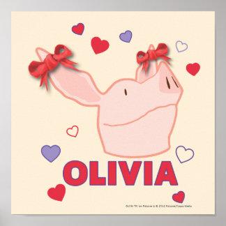 Olivia - hjärtor poster