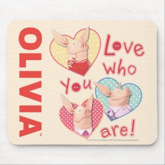 Olivia - kärlek som du är musmatta