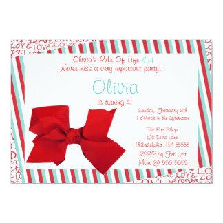Olivia kärlekinbjudan 12,7 x 17,8 cm inbjudningskort