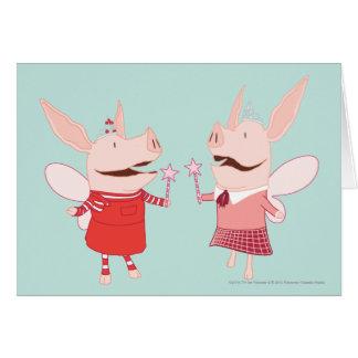 Olivia och Francine - fe Hälsningskort