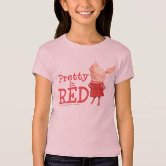 Olivia - söt i rött t-shirt