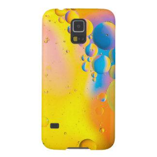 Olja och vatten på en färgad bakgrund galaxy s5 fodral