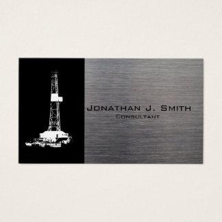 Olje- borranderiggSilhouette, metallLook Visitkort