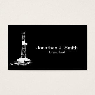Olje- Silhouette för borranderiggvit Visitkort