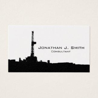Olje- Silhouette för svart för borranderiggplats Visitkort