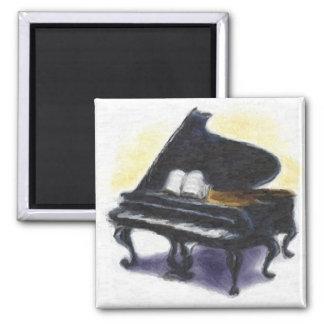 Oljemålning: Mitt piano Magnet