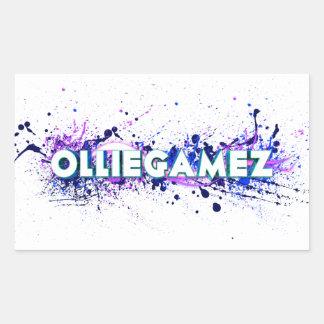 OllieGamez Splatter Rektangulärt Klistermärke