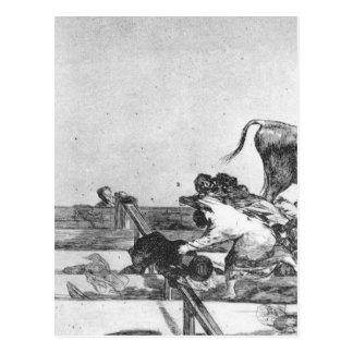 Olyckliga händelser placerar framtill av ringen vykort