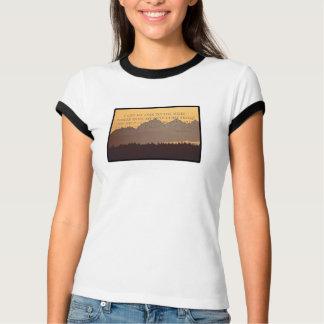 olympic berg med psalm121:1 - 2 tshirts