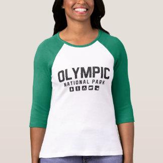 Olympisk nationalparkkvinna skjorta för raglan t shirts