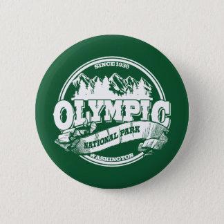 Olympiska gammala cirklar grönt standard knapp rund 5.7 cm