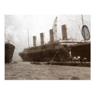 Olympiskt och Titanic Vykort