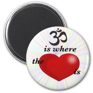 OM är var hjärtan är Magnet Rund 5.7 Cm
