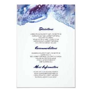 Om blåttbröllop för vattenfärg Crystal information 8,9 X 12,7 Cm Inbjudningskort