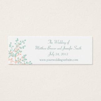 Om bröllopWebsite för korall/för Mint gröna kort